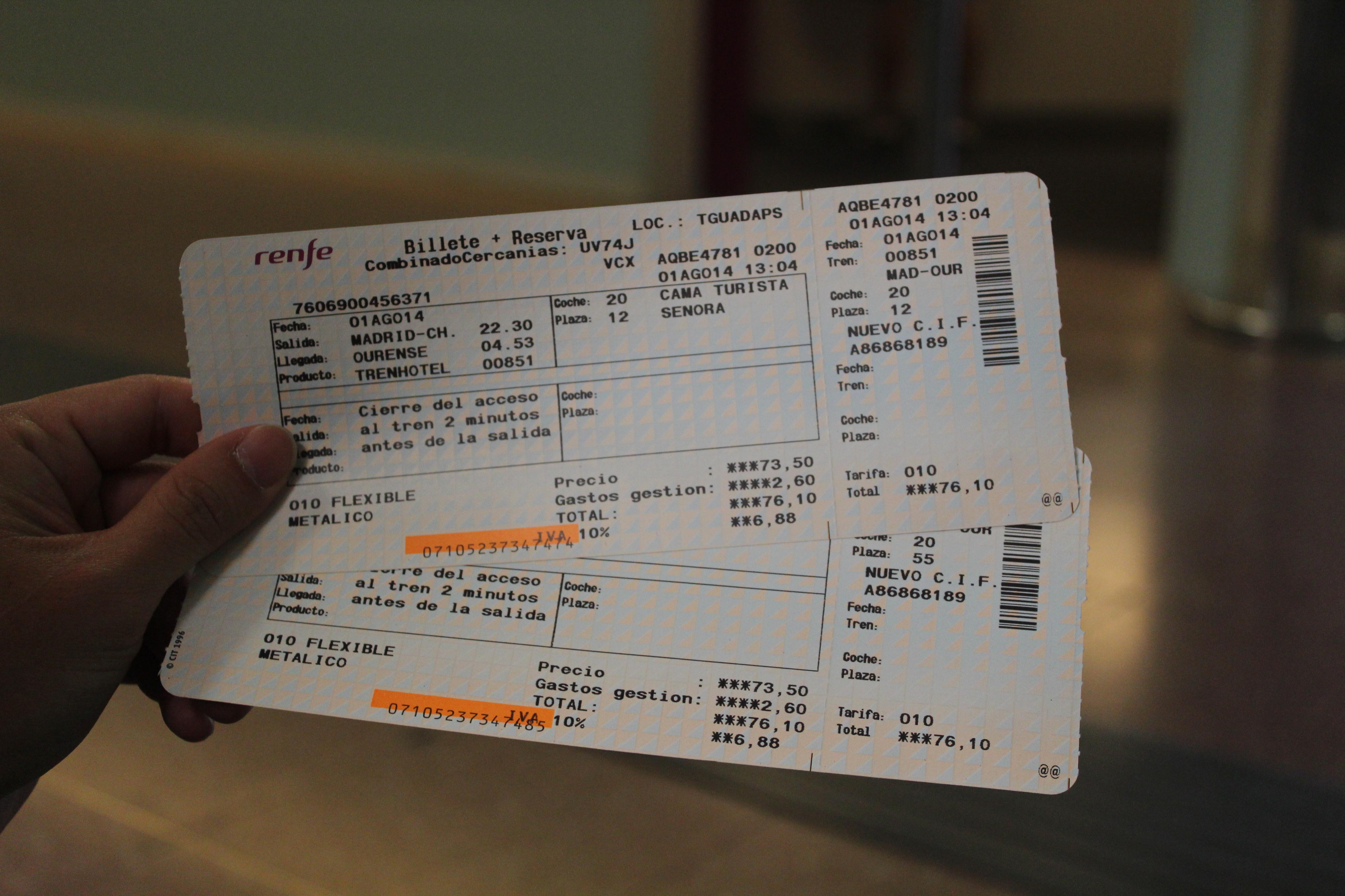 missed train madrid tickets