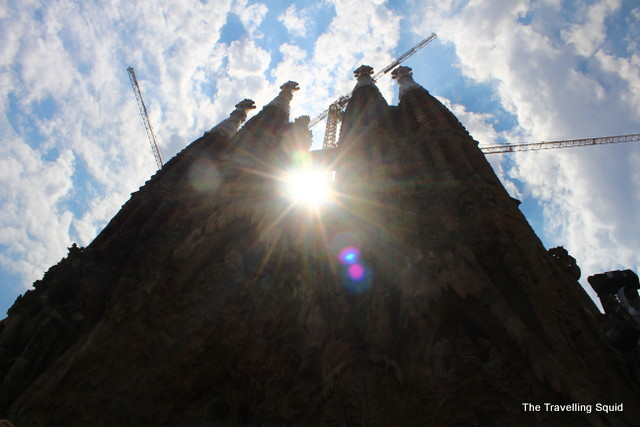 sagrada familia towers barcelona
