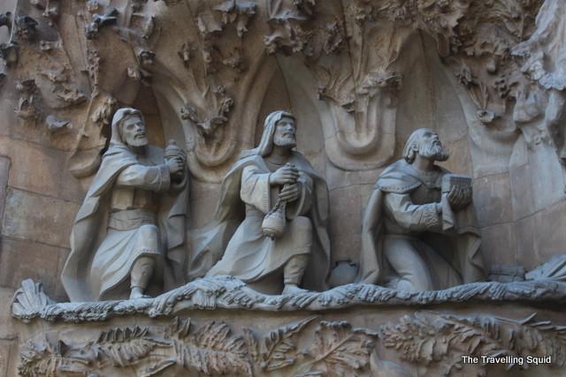 la sagrada familia three wise men