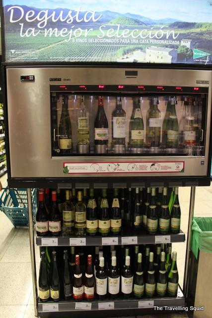 madrid spanish wines supermarket