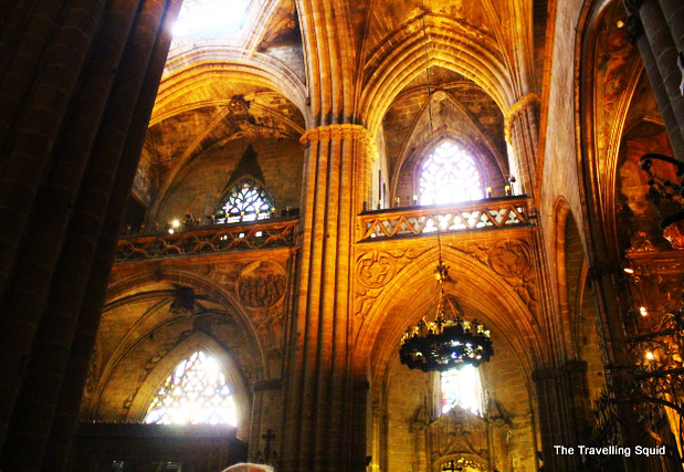 Barcelona Cathedral windows