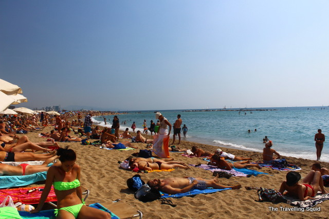 barceloneta beach summer