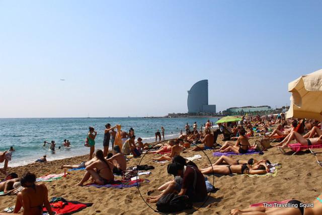 barceloneta beach bikini