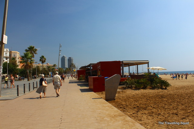 barceloneta beach running
