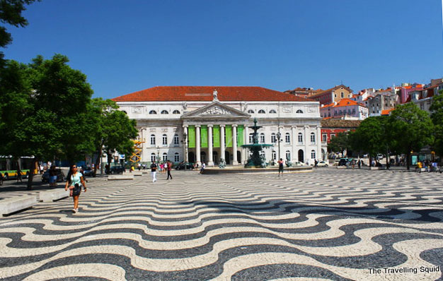 rossio square lisbon portugal places to visit in Lisbon Portugal