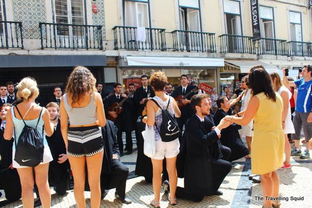 rua augusta baixa lisbon music performance