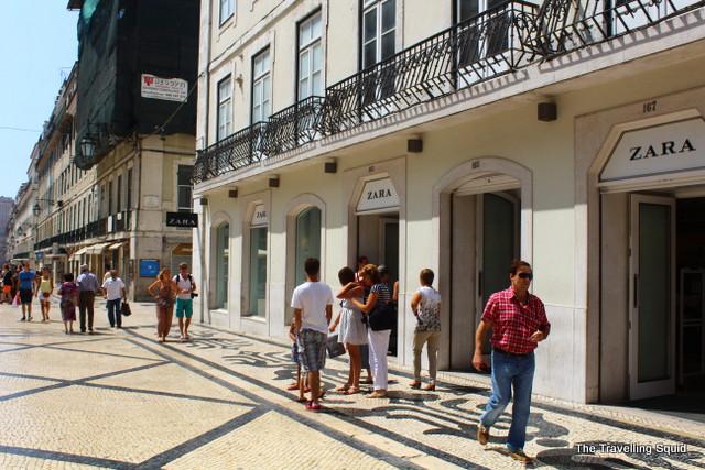 rua agusta baixa lisbon zara