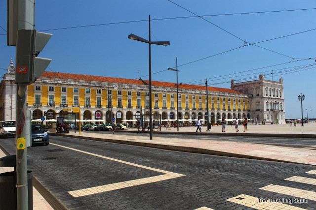 Praça do Comércio lisbon baixa road