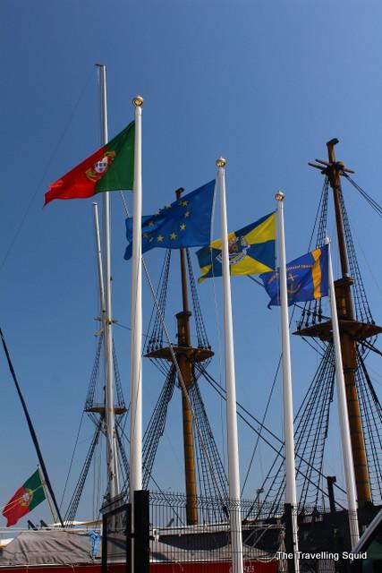 ship Cacilhas lisbon cristo rei