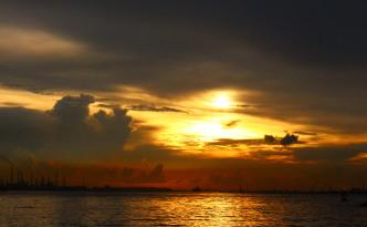 sunset singapore yacht