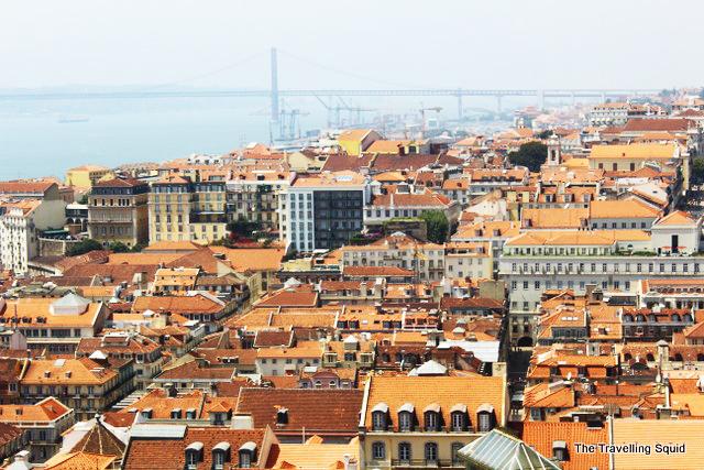 view castelo sao jorge lisbon portugal