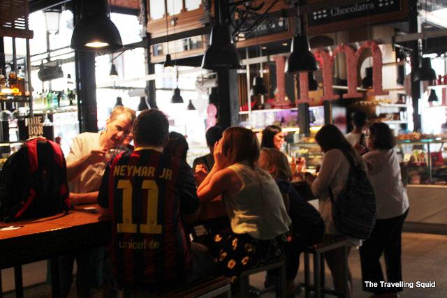 Mercado San Miguel sitting