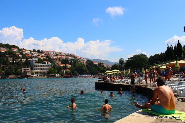croatia beach swimming dubrovnik