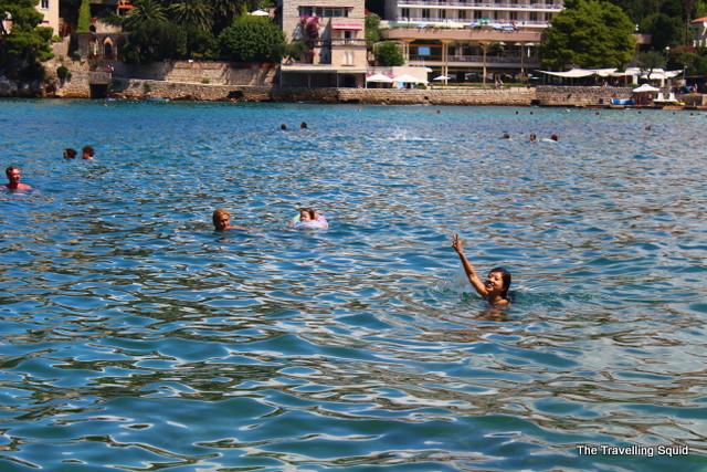 swimming adriatic sea lapad beach