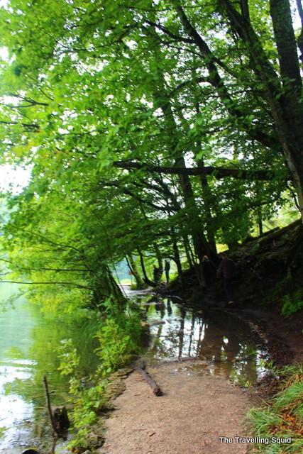 plitvice lakes flooded walking trails