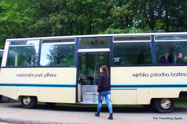 plitvice lakes tram route