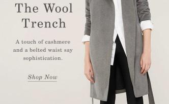everlane trench coat travel