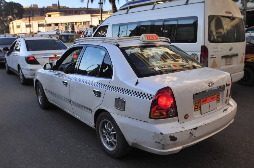 Cairo white cab taxi