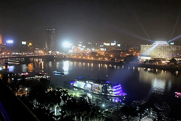 cairo night view river nile