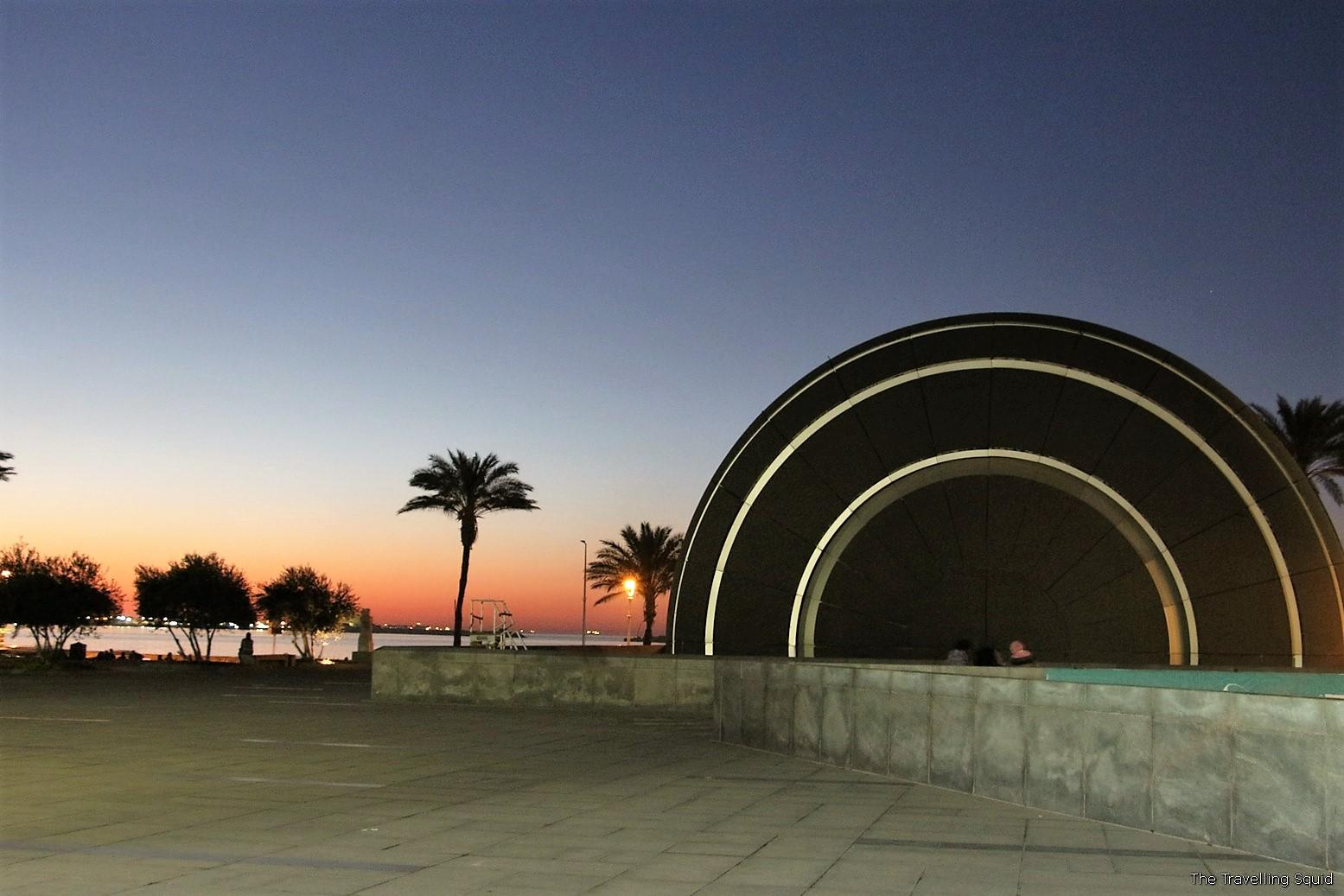 Bibliotheca Alexandrina night