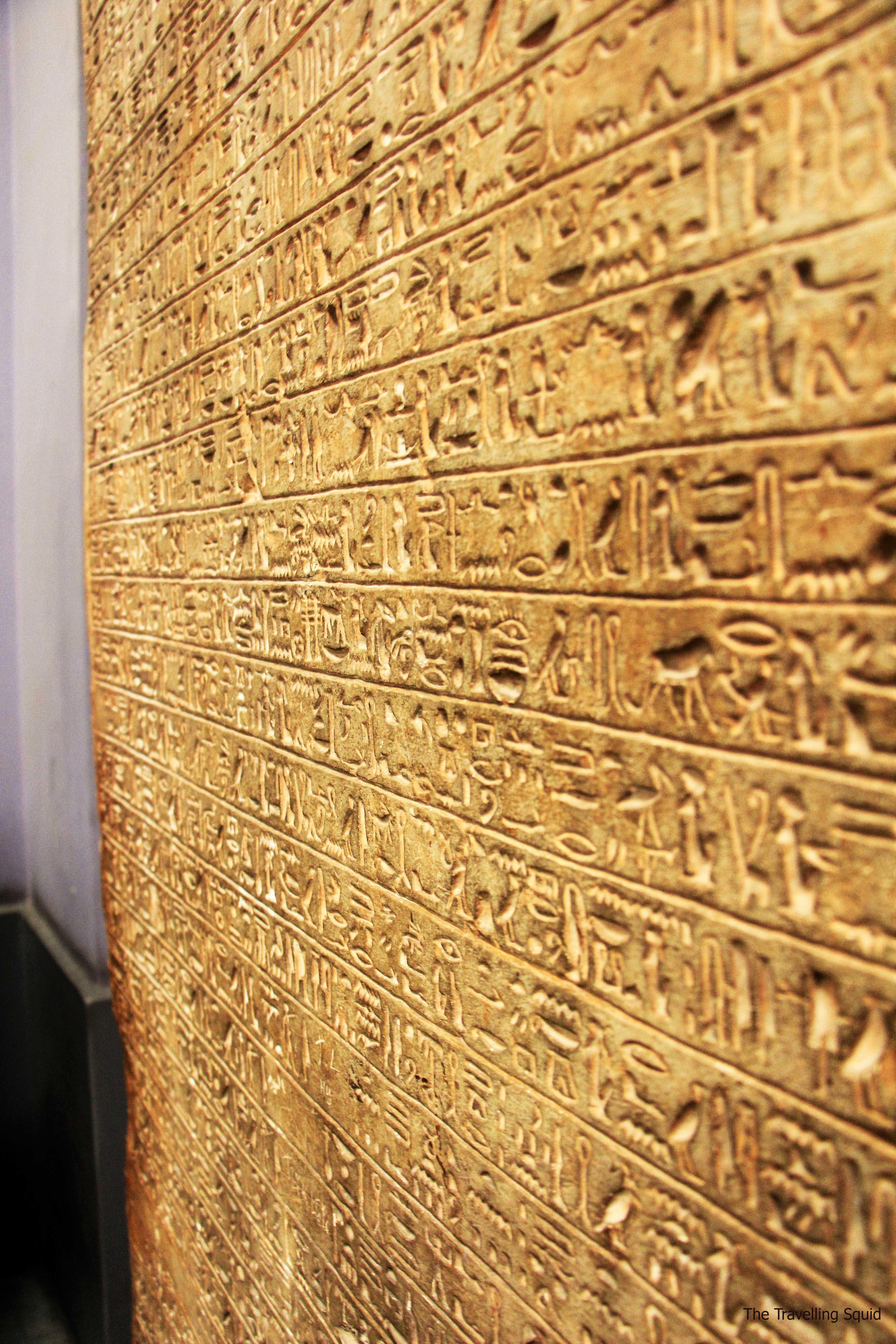 hieroglyphs egyptian museum stone