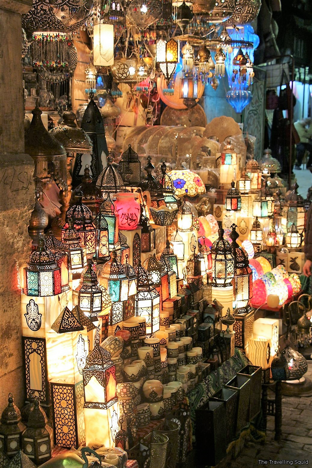 islamic cairo egypt stained glass lamps