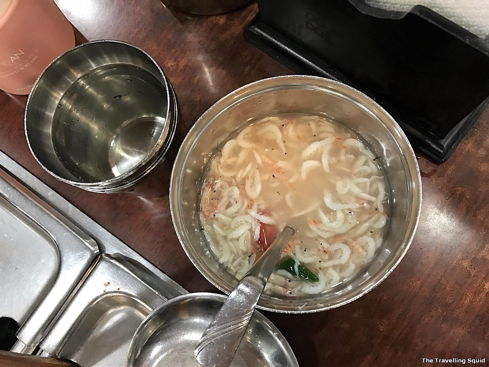 authentic Korean breakfast in Seoul Mugyodong Bugeokukjib