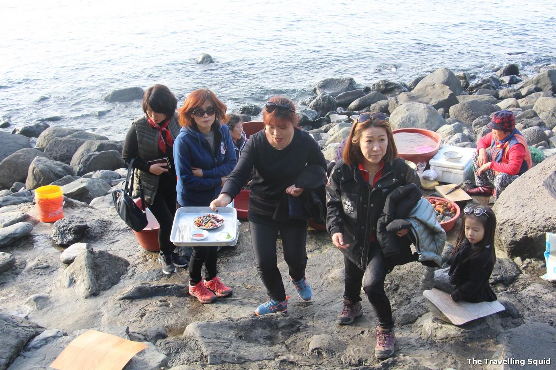 jeongbang waterfall jeju cooking