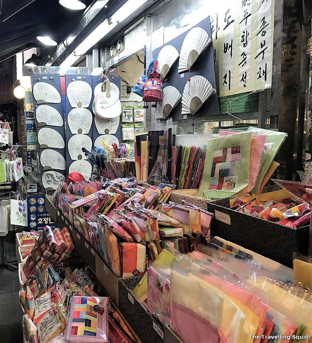 Insadong souvenir shopping