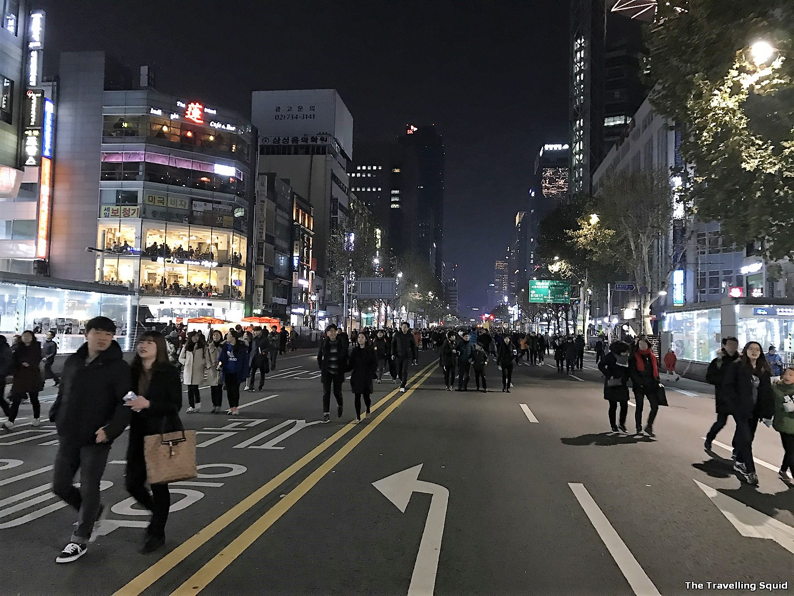 visit Seoul while protests are ongoing