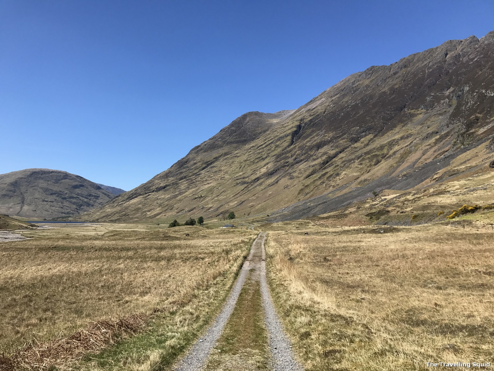 easy Glencoe hiking trail off the A82