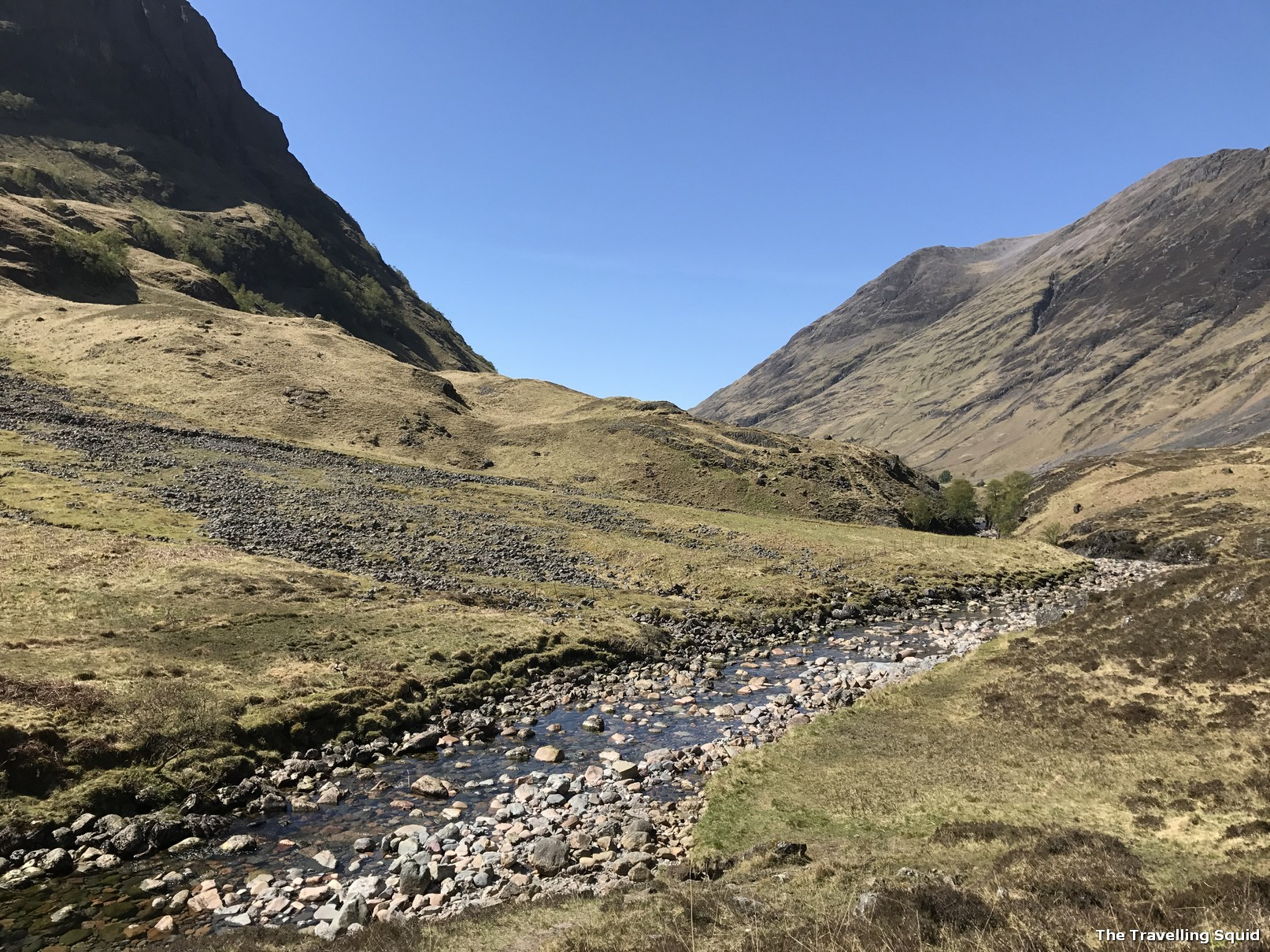 easy glencoe hike stream