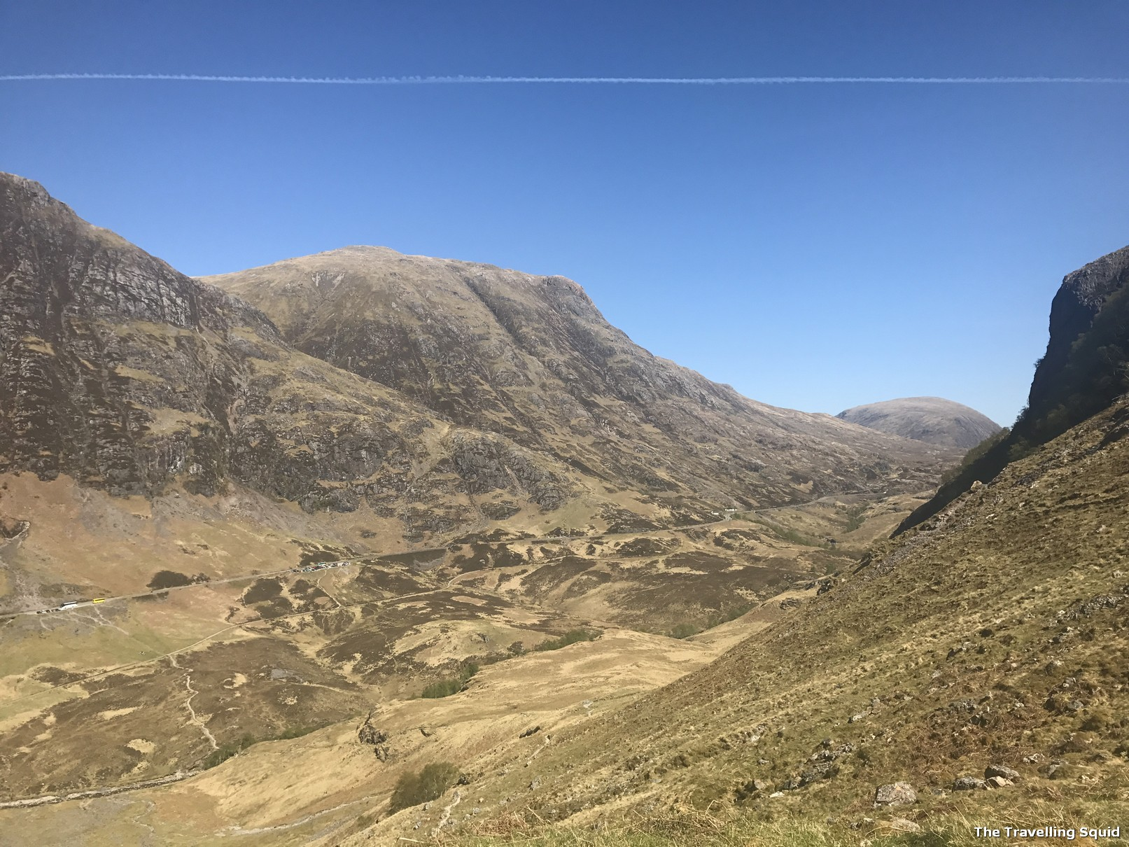 Three Sisters Hiking Trail in Glencoe near Gearr Aonach