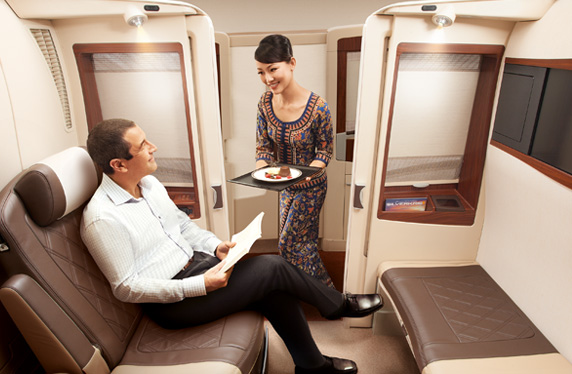 Use miles to redeem aspirational rewards like Singapore Airlines' Suites product to Sydney.