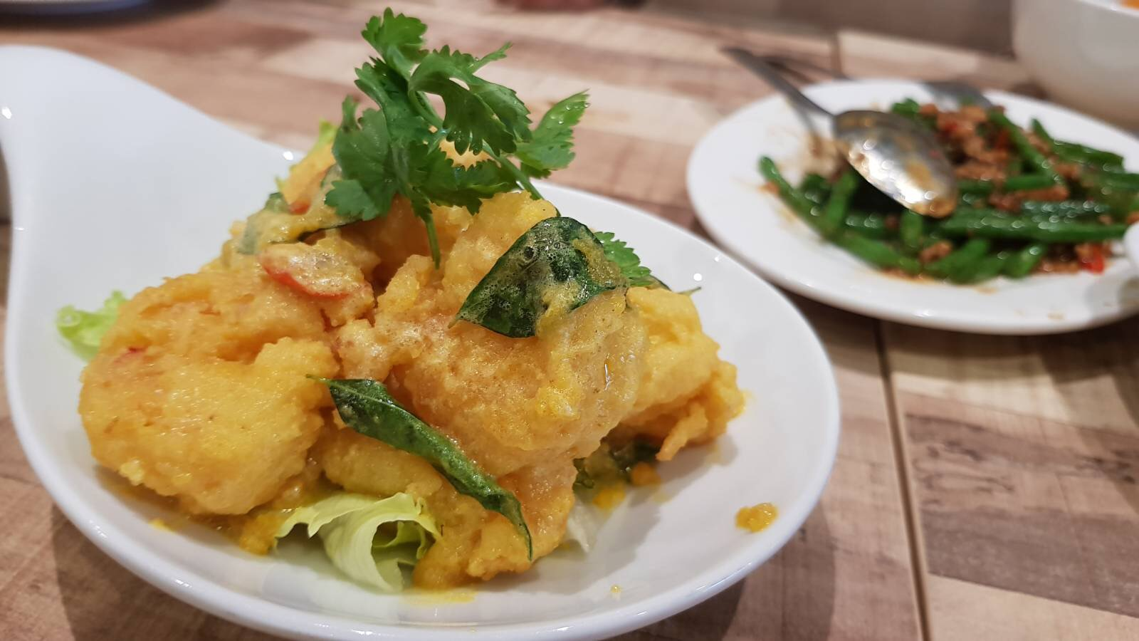 Salted egg prawn - 咸蛋黄虾球