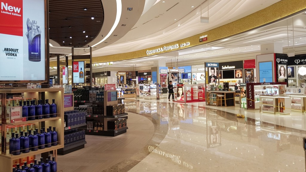 Duty-free shops at terminal 4