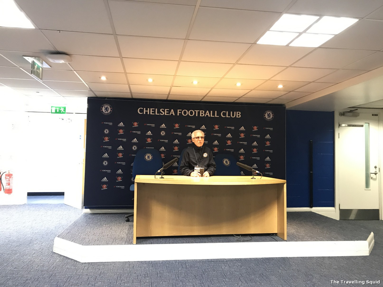 chelsea fc stamford bridge stadium tour press room