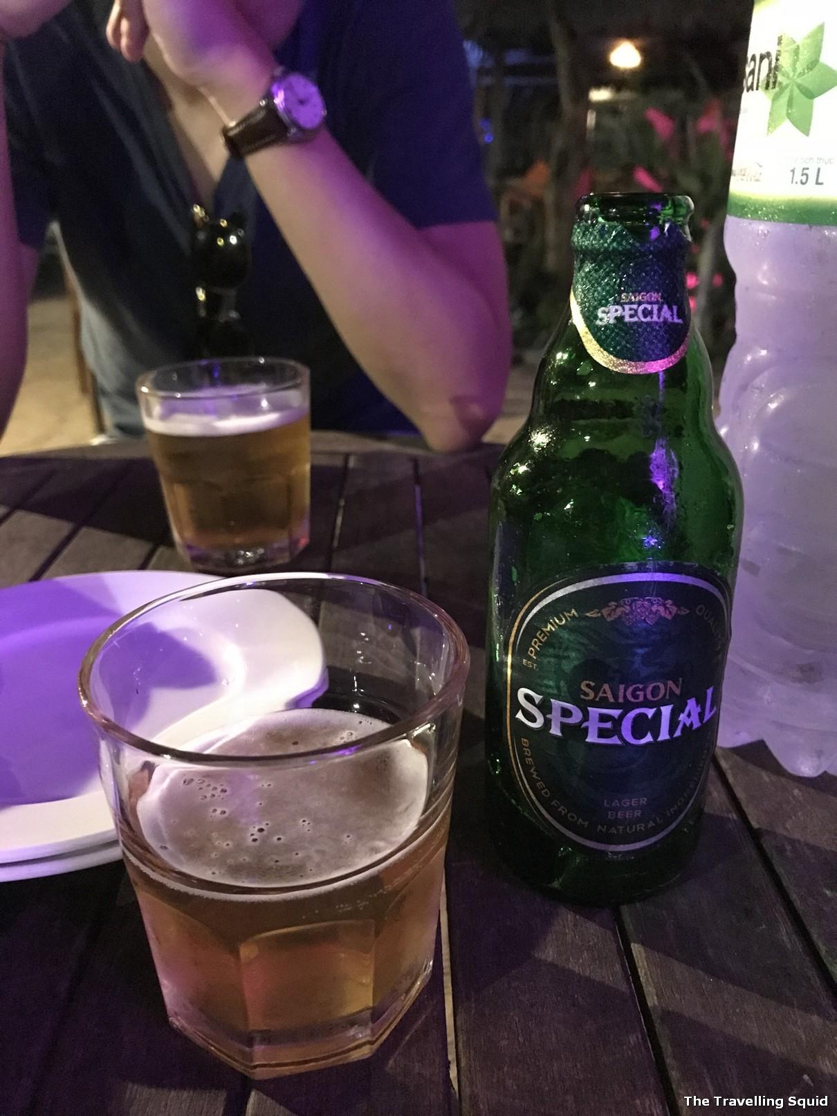 Soul Kitchen Beach Bar and Restaurant in Hoi An Saigon beer