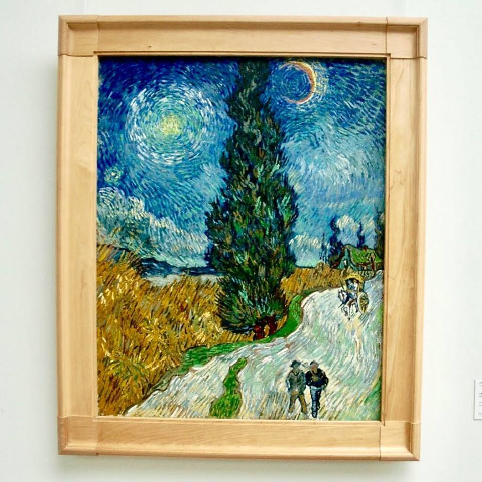 road with cypress and star art novice the film Loving Vincent is a dream come true
