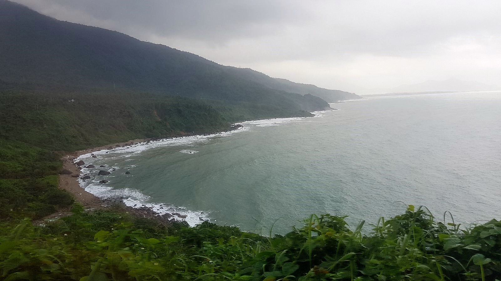 train ride hue to danang view