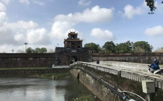 imperial city hue moat bridge