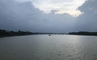 perfume river view from truong tien bridge hue