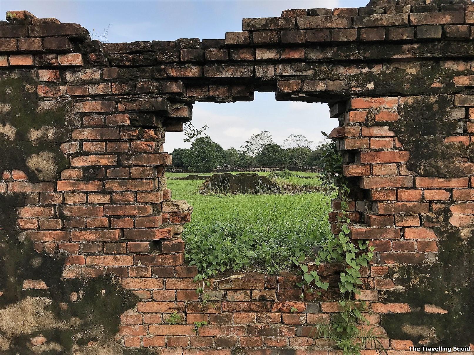 imperial city danang brick wall