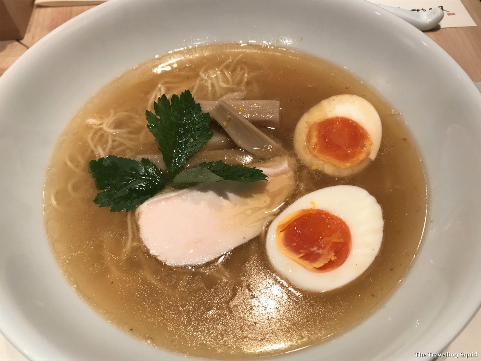 Review of seafood ramen at Menya Maishi in Ginza Tokyo