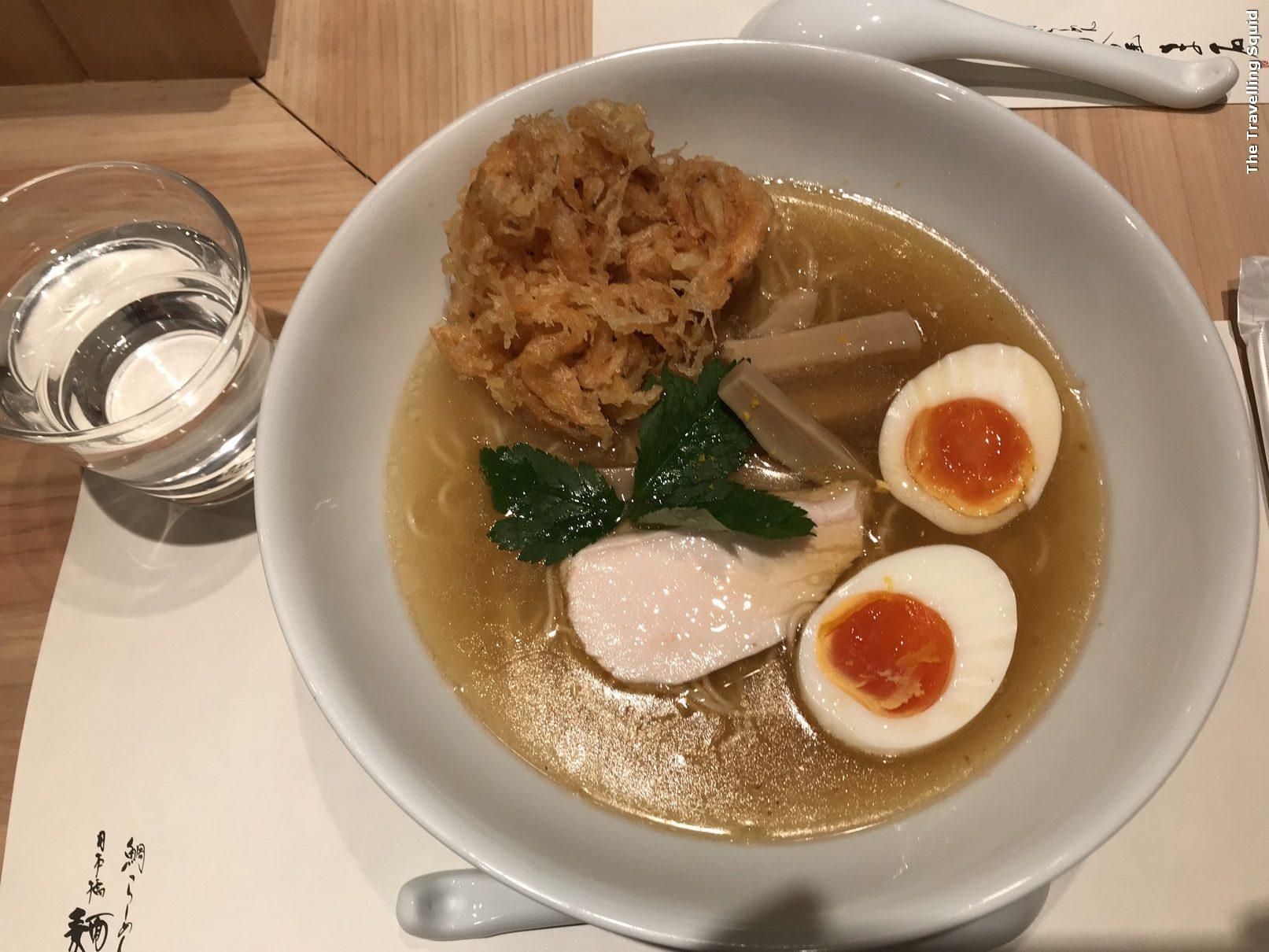 sea bream ramen at Menya Maishi in Ginza Tokyo