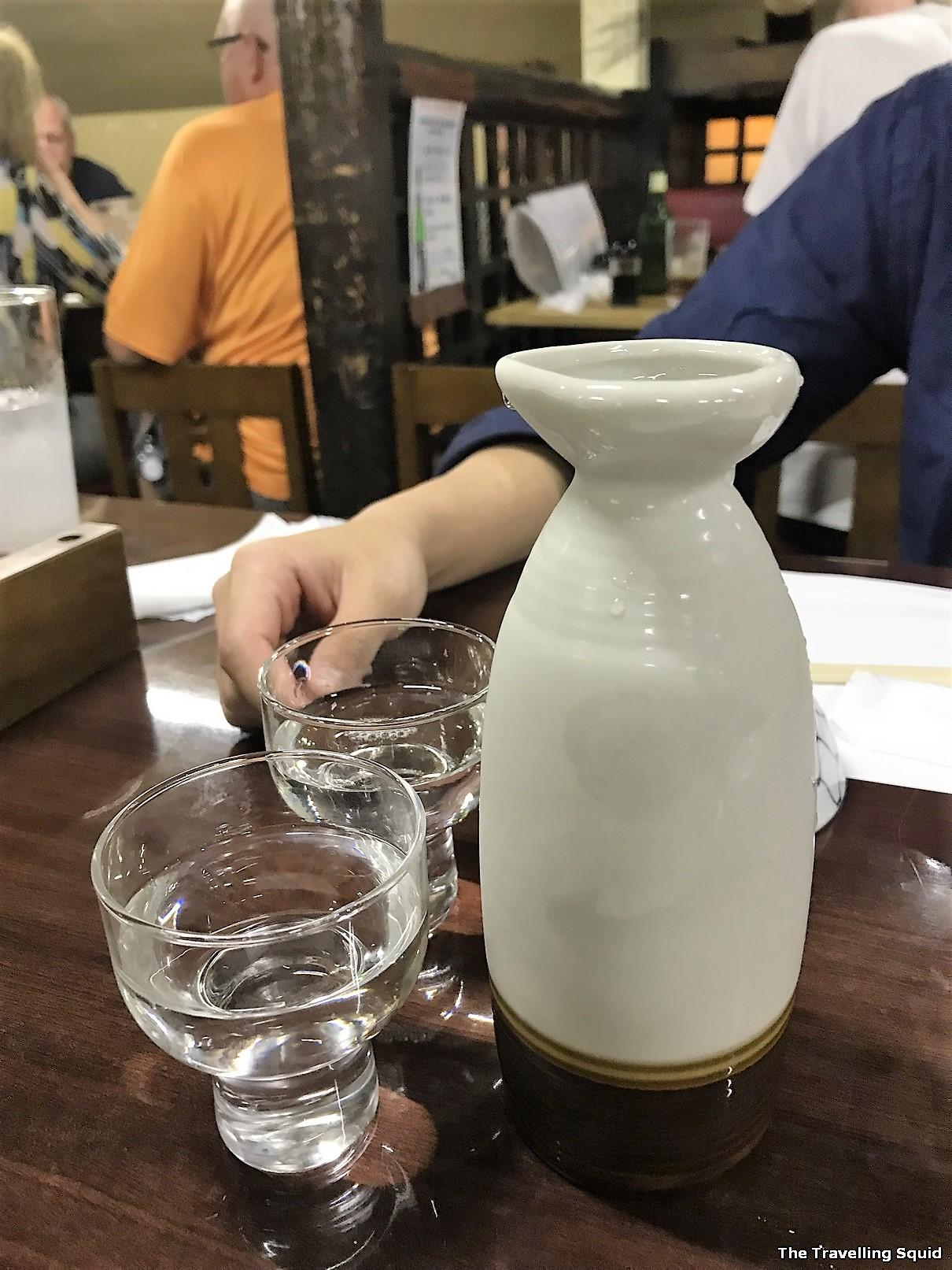 sake good Izakaya in Tokyo visit Andys Shin Hinomoto