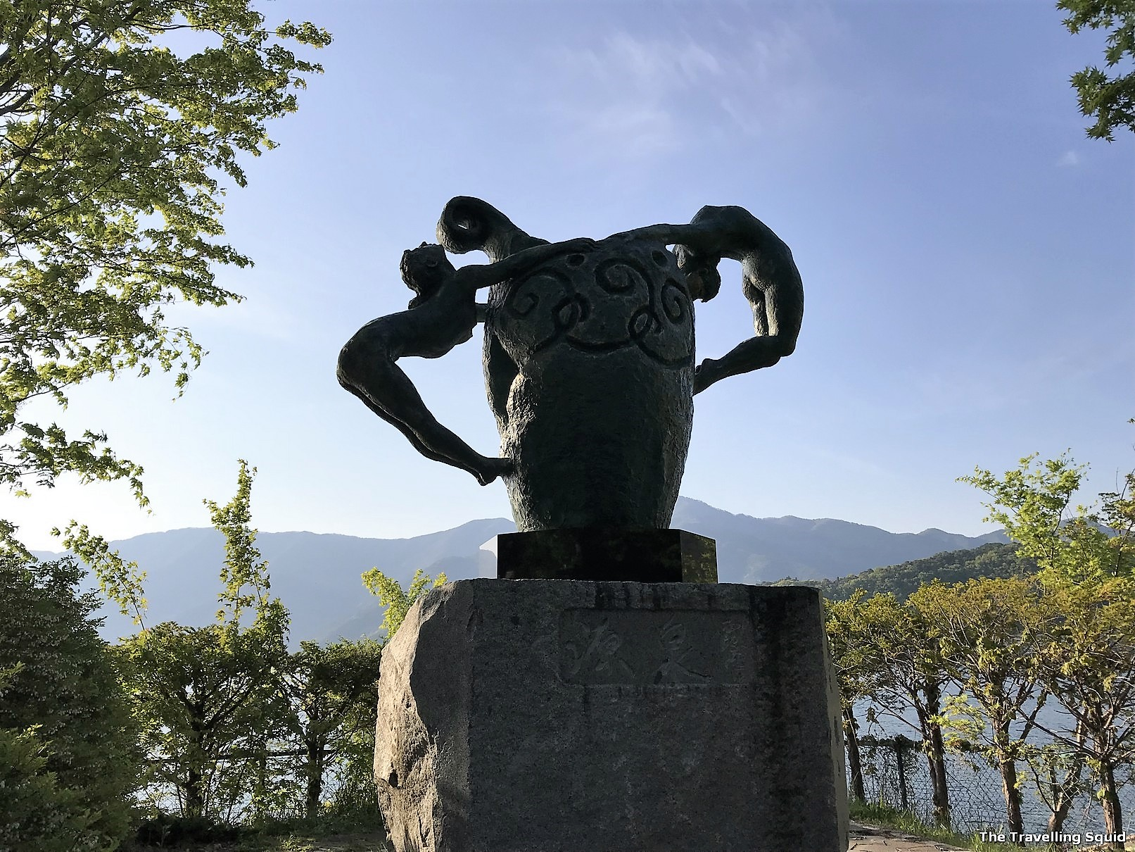 statue Walking Trail around Lake Kawaguchiko