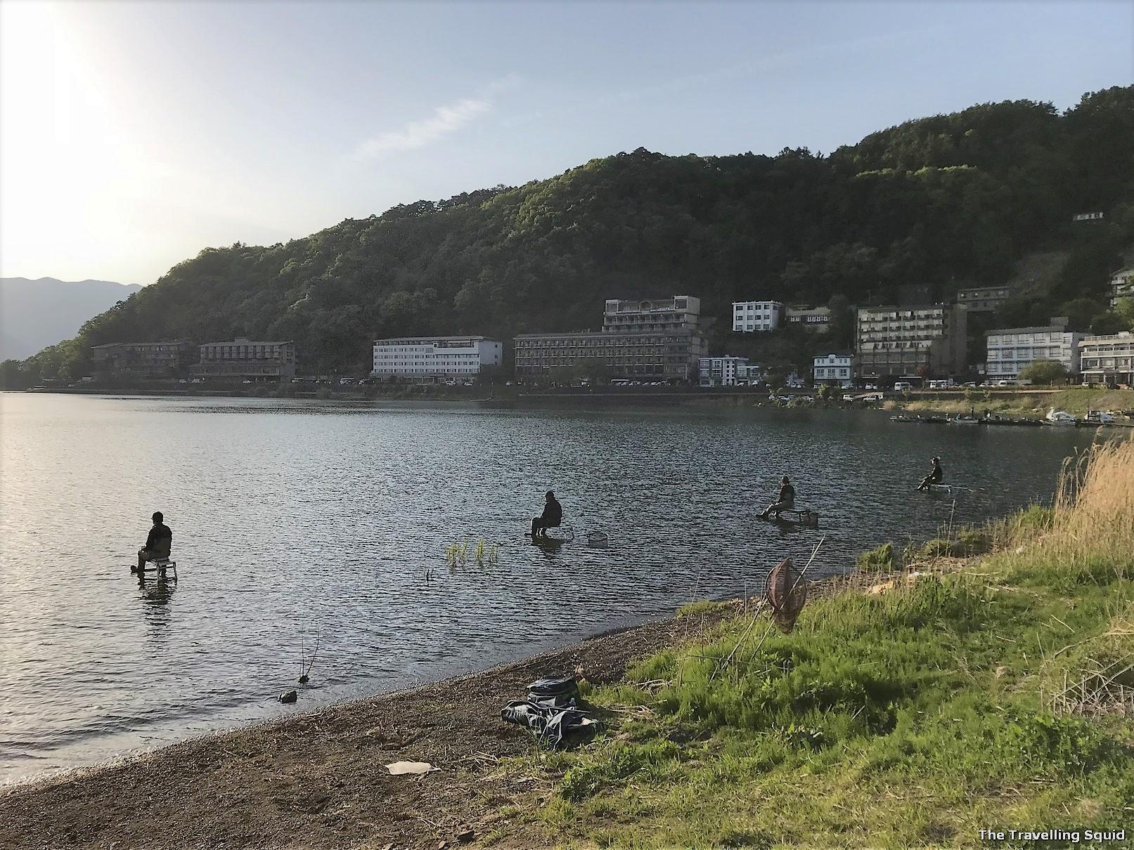 fishing lake kawaguchiko