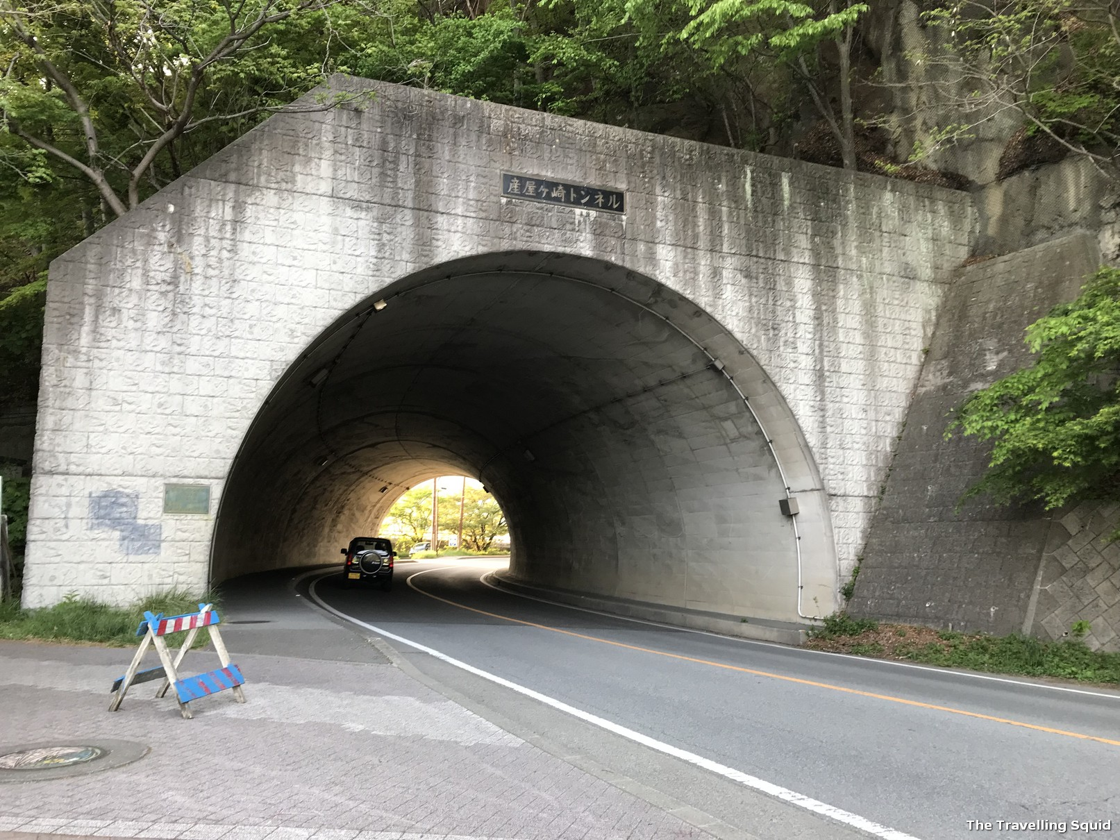 underpass Lake Kawaguchiko on foot
