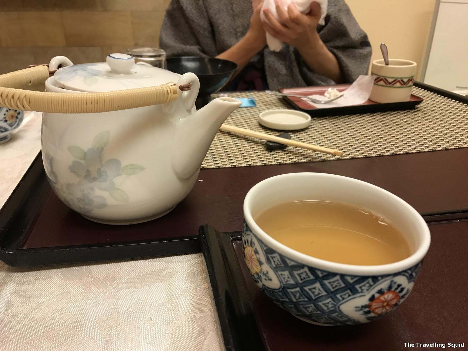 hojicha dessert kaiseki dinner hotel konanso kawaguchiko